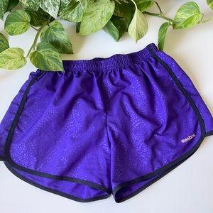 🆕Reebok Purple Play Dry 3 Inch Running Shorts
